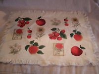 Set Of 4 Apple Cherry Sunflower Placemats