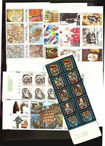 SWEDEN-SVERIGE-lot-of-6-booklets-MNH-and-5-FDC-covers-Map-Slania-vikings-fauna