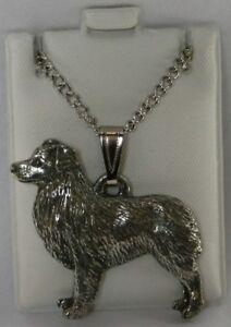 Australian Shepherd Dog Harris Fine Pewter Pendant USA Made