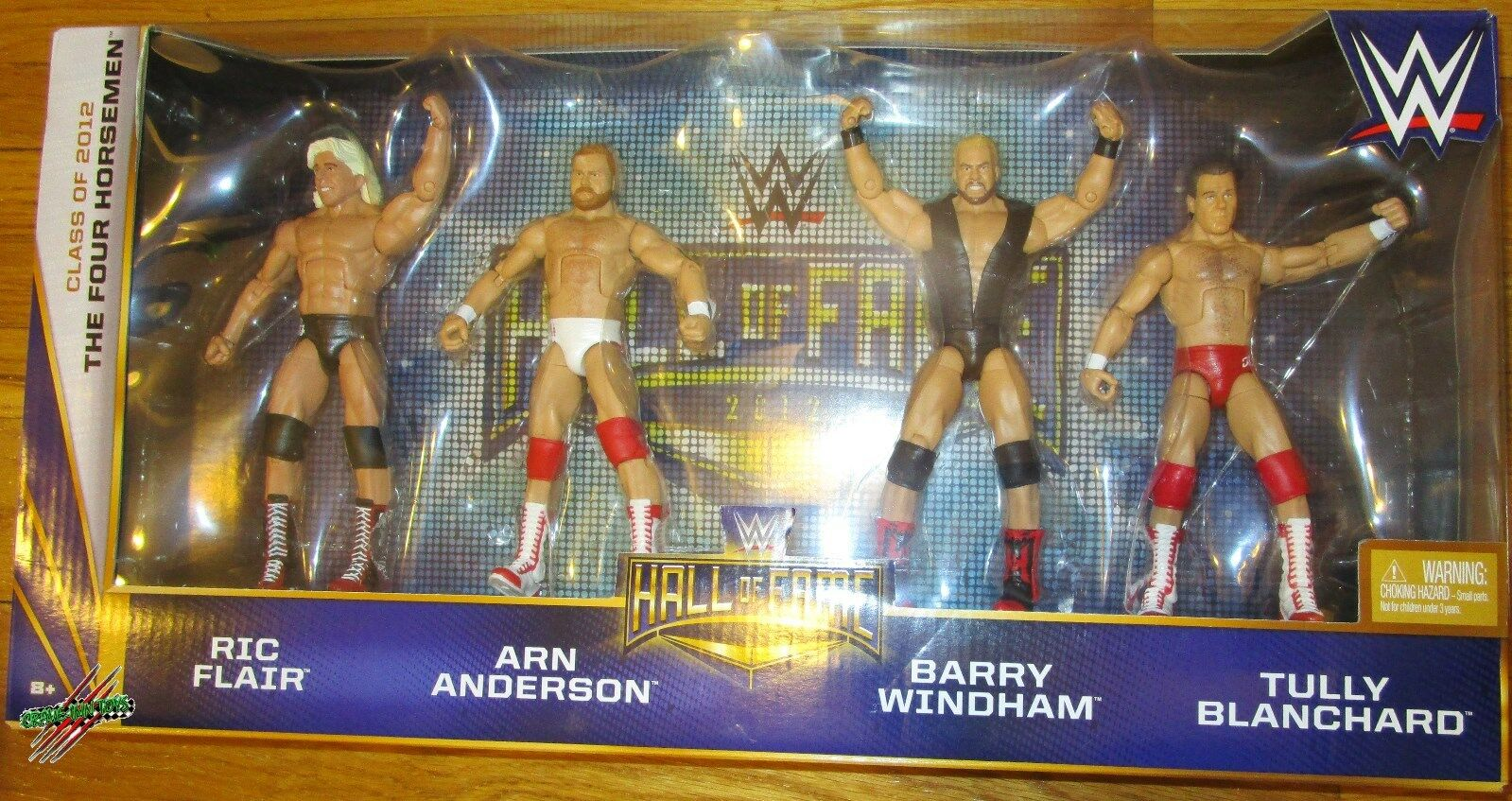 WWE ELITE Hall of Fame Set NWA cavaliers Flair Blanchard Anderson Windham cible