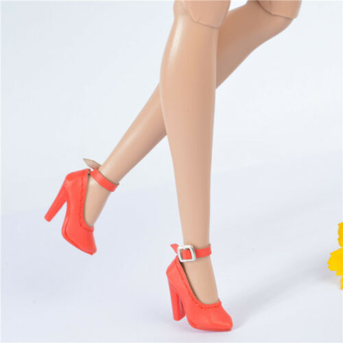 fit Jason wu integrity toys FR2 Nu Face 2 body doll shoes red thick root heel