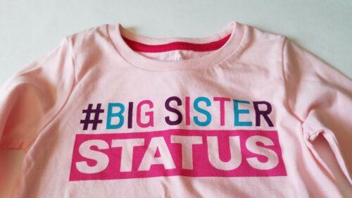 Infant Girls Falls Creek Pink Big Sister Status Long Sleeve Shirt Size 12M 18M