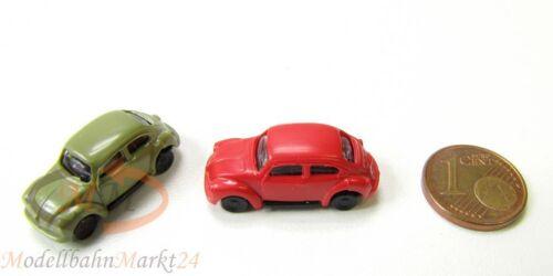 VW 1303 Käfer Beetle 2 x verschiedene Farben Kult-Modell Maßstab 1:160 NEU