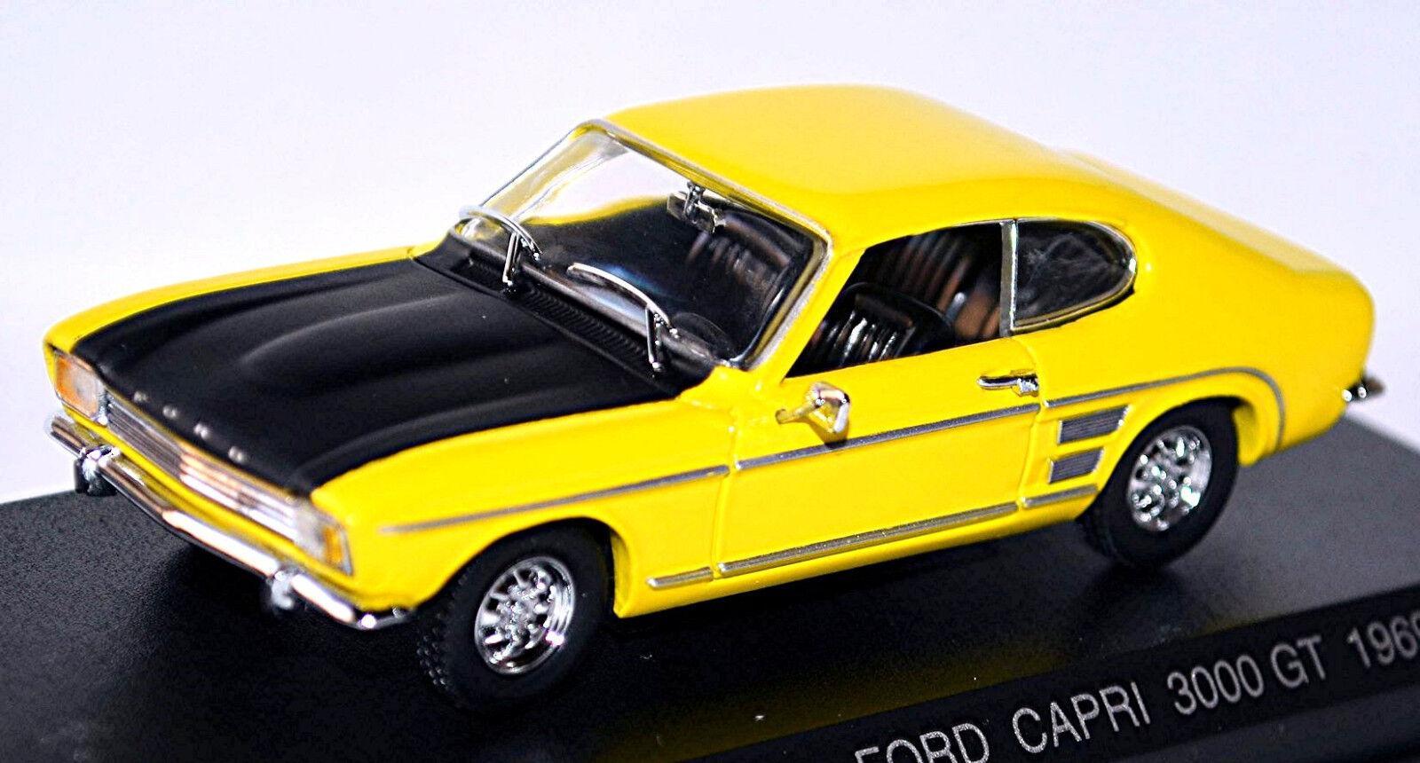 FORD CAPRI 3000 GT 1969-73 Jaune jaune 1 43 Détail Cars
