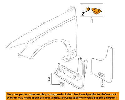 FORD OEM 13-16 Fusion Fender-Upper Molding Trim Right ES7Z16004DA