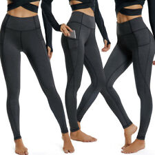 41dfbe6355f HOT Women Compression Yoga Workout Pants High Waist Active Leggings With  Pockets