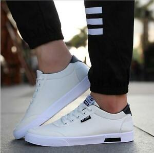 eddaa2d3b21 Hot sell! Men s Canvas Sneakers Breathable Recreational Shoes White ...