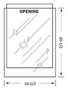 16-1/2 x 20-1/2 inch MYLAR Sleeve(s) 4mil no flap