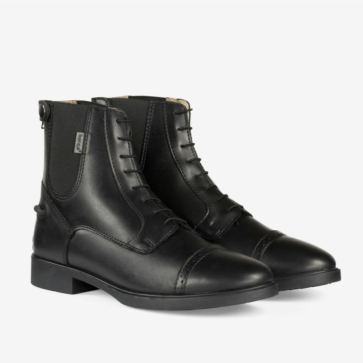 Horze Kilkenny Sintético Paddock botas de montar con cremallera en la espalda con cordones Look