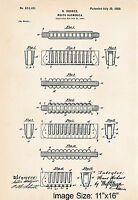 Hohner Harmonica 1900 Patent Artwork Print Gifts For Blues Player Illustration
