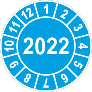 20 Stück UVV Prüfplaketten Bagger Stapler 2022  Ø 30mm Rot 6201