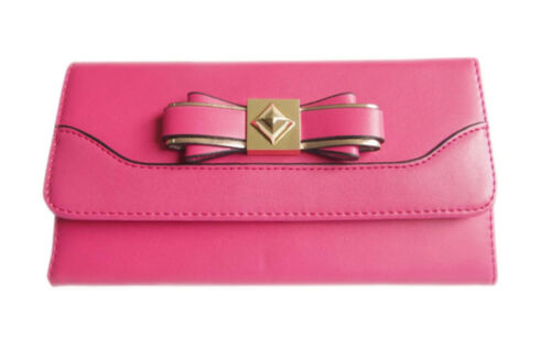 LYDC Faux Leather Purse Wallet Bow Studded Elegant Womens Boxed Gift Designer