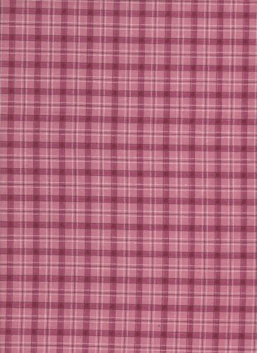 Pink 115cm wide White Check Cotton Fabric Red