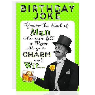 BIRTHDAY GREETING CARD - Funny Humour Joke Smelly Fart - OTC5019-2