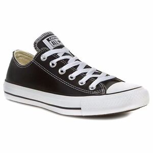 converse ct ox low black leather 132174c mens size 8