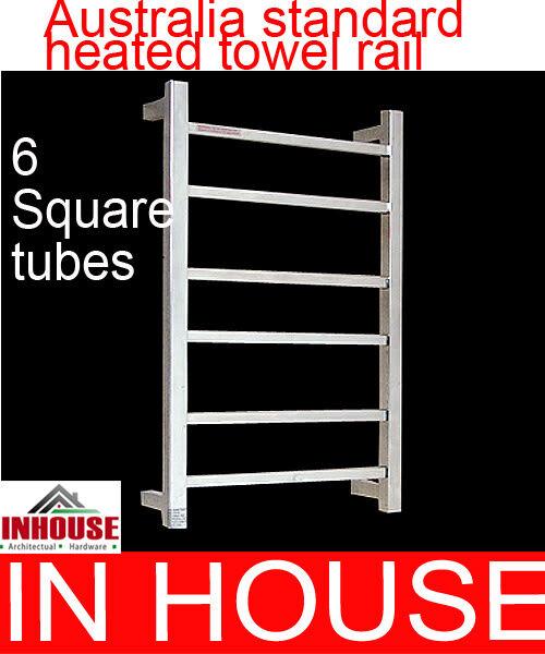 Heated Towel rail - 6sqaure tubes-700HX450WX115Dmm