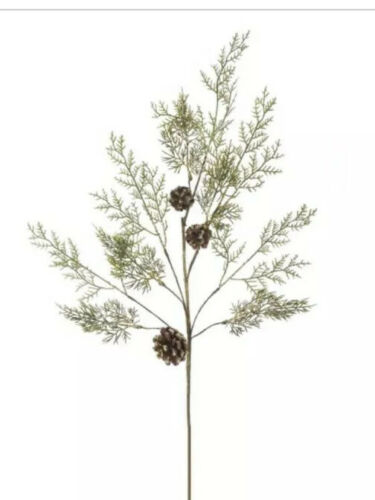 "Details about  /Lot Of 4 36"" Golden Cedar Pine Cone Sprays Picks Kurt Adler New Wired"