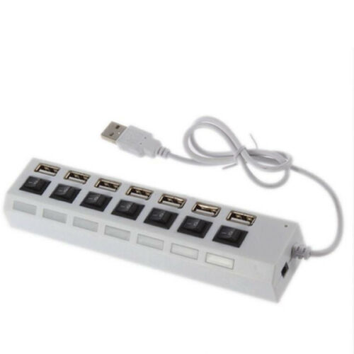 7 Port USB HUB Multi Independent Switch Splitter Adapter For PC//Computer//Laptop