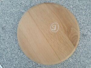 Plateau rond en vieux chêne assise tabouret dessus table Diamètre 30 cm N9