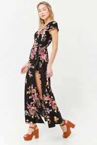 d98950d376 Image is loading NWT-Forever-21-floral-maxi-romper-size-small