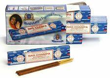 5 3 x15g  Packs Agarbathi Satya Sai Baba NAG CHAMPA Incense Sticks Box x 12