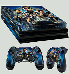 Video Games & Consoles Ps4 Pro Skin Black Panther Superhero Vibranium Cat Sticker 2 X Pad Skins New Faceplates, Decals & Stickers