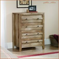 Weathered Oak Wood Dresser Storage Chest Cabinet Lodge Farmhouse Country Rustic