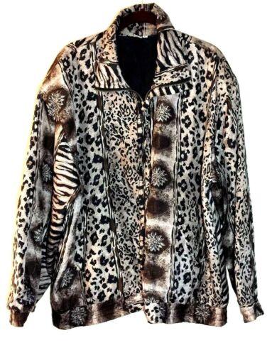 Women's Fuda International Zip Jacket ~ Sz L~ Ani… - image 1