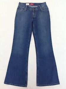 Size-7-Bootleg-Vintage-Retro-Levis-Jeans-NWT-Womens-Urbano-Flare-Runaway-Wash