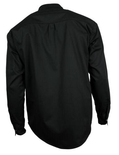 Western-Mémoire Loisirs Jeans Chemise Hommes Coton Noir Boutons-pression s-4xl