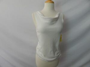 ETCETERA-OFF-WHITE-IVORY-SWEATER-SHELL-COWL-NECK-TANK-TOP-sizes-S-M-NEW-135