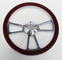 67 68 Pontiac Gto Firebird Steering Wheel Burgundy And Billet 14 Shallow Dish