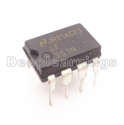 10PCS LF351 LF351N High Speed Wide Bandwith J-FET Op Amp IC