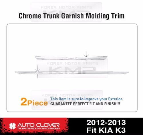 Chrome Trunk Rear Garnish Molding Trim C756 For KIA 2013-2018 Forte Cerato K3