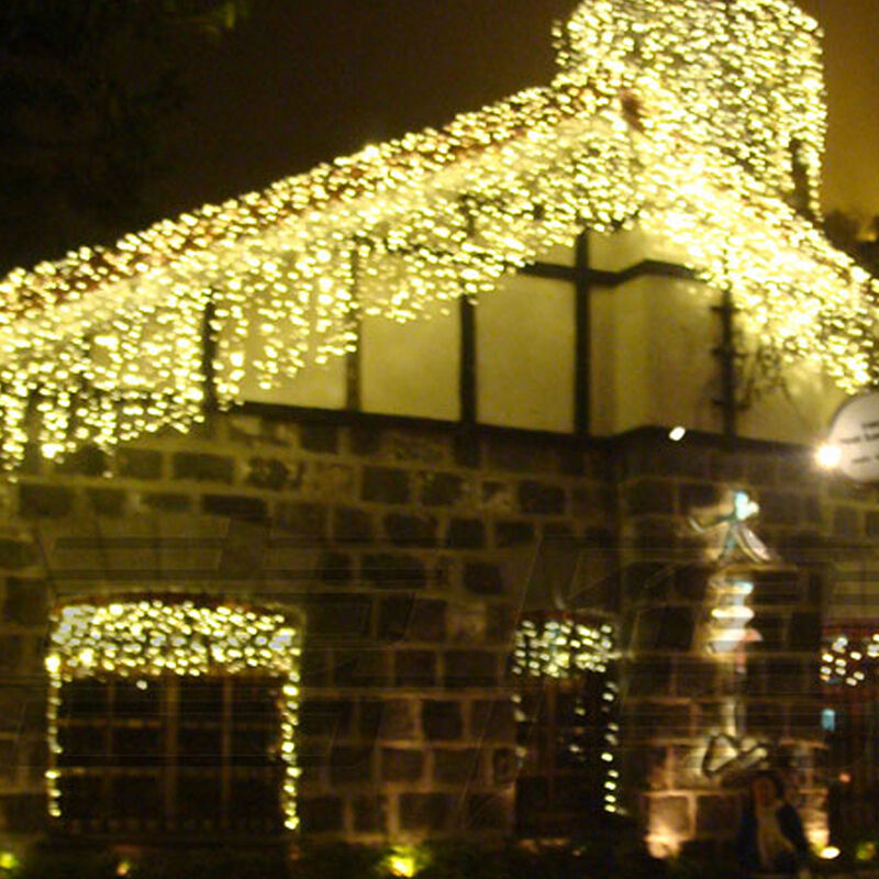 Outdoor Hanging String Lights Led: 96 LED Hanging Icicle Snowing Curtain Lights Outdoor Fairy