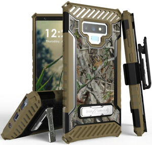 Autumn-Camo-Tree-Real-Woods-Case-Cover-Belt-Clip-Strap-for-Samsung-Galaxy-Note-9