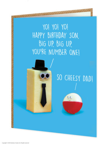Son Birthday Greetings Card Funny Comedy Humour Cheeky Novelty Cheese Joke