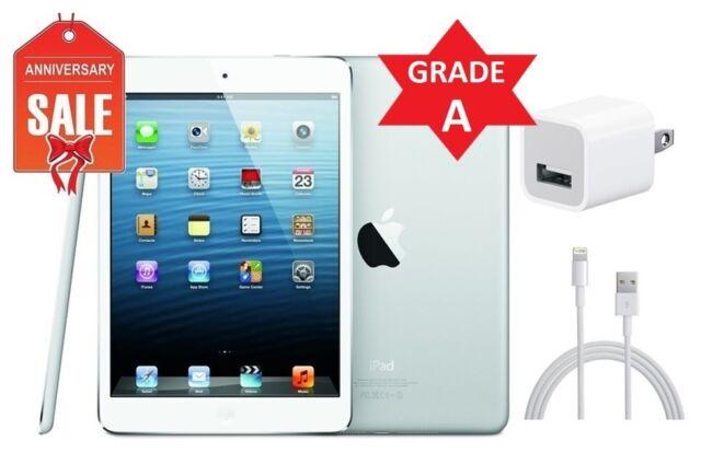 White /& Silver Apple iPad mini 1st Gen 64GB R-D Wi-Fi 7.9in B+ Condition