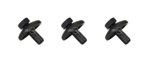 3 Pack Rotary 14457 Blade Bolt /& Washer For Husqvarna Craftsman 532193003 193003