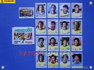 Panini-WM-1986-WorldCup-WC-86-Team-Brasilien-Komplett-Satz-Brazil-complete-set