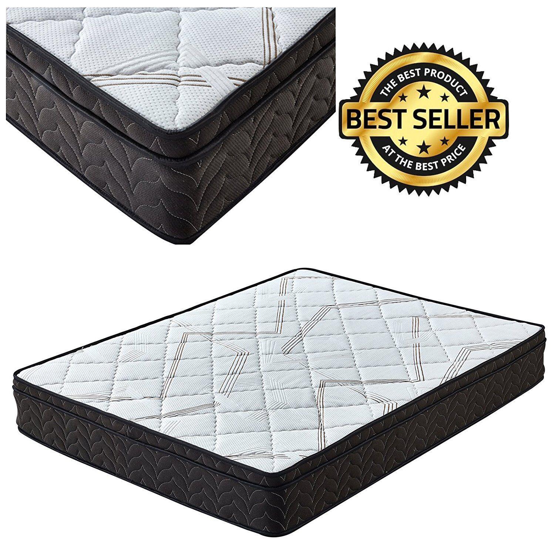 Signature Comfort Sleep 9-Inch Queen Mattress Pillow Top King Mattress Full Twin