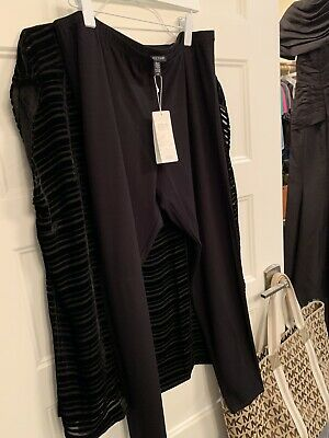 NWT Eileen Fisher MIDNIGHT Viscose Jersey Ankle Leggings 2X $98