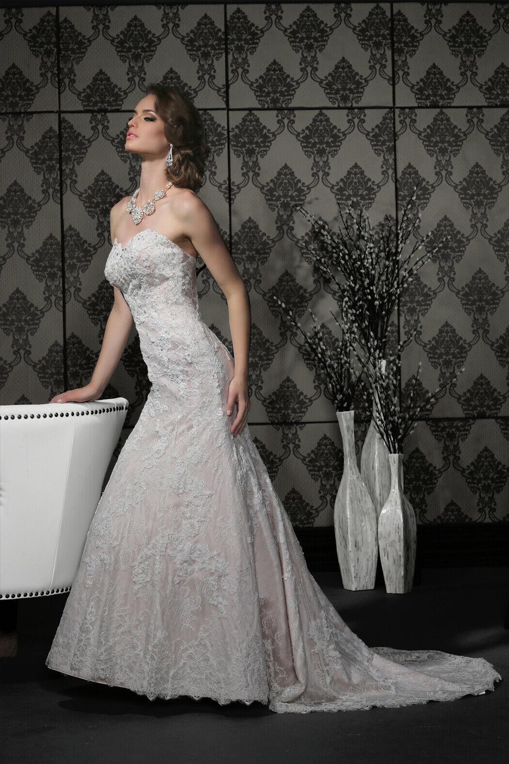 Impression Bridal Gown 10296 - Ivory/Ivory Size 10 NWT