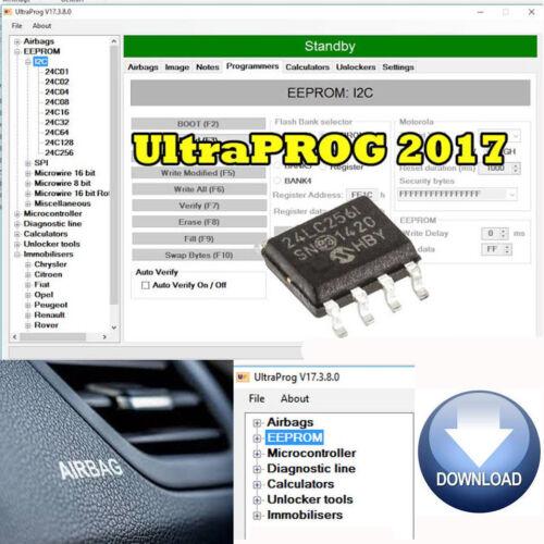 ECU AIRBAG SOFTWARE V17.3.8.0 Version PROG ULTRA prog ECU 2017