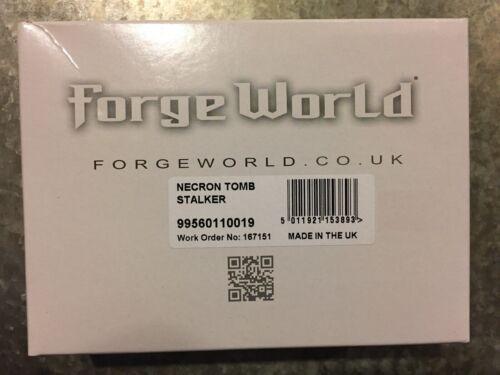 OOP NIB Forge World Warhammer 40K NECRON Tomb Stalker
