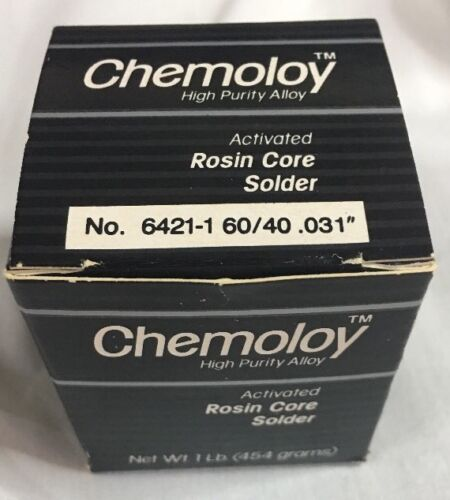 Chemtronics Chemology Solder 1-lb Roll 60//40 .031 Rosin Core  # 6421-1 USA *NEW