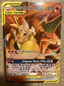 New Listing CHARIZARD BRAIXEN 22/236 Pokemon SUN MOON Cosmic Eclipse GX Art Foil Ultra Rare