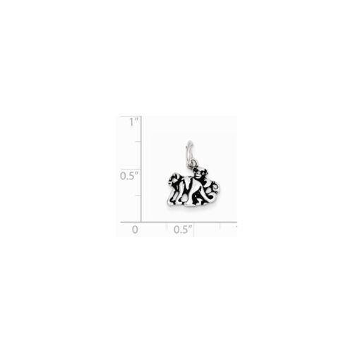 .925 Sterling Silver antique Singe Charm Pendentif fabricants Standard prix de détail $16