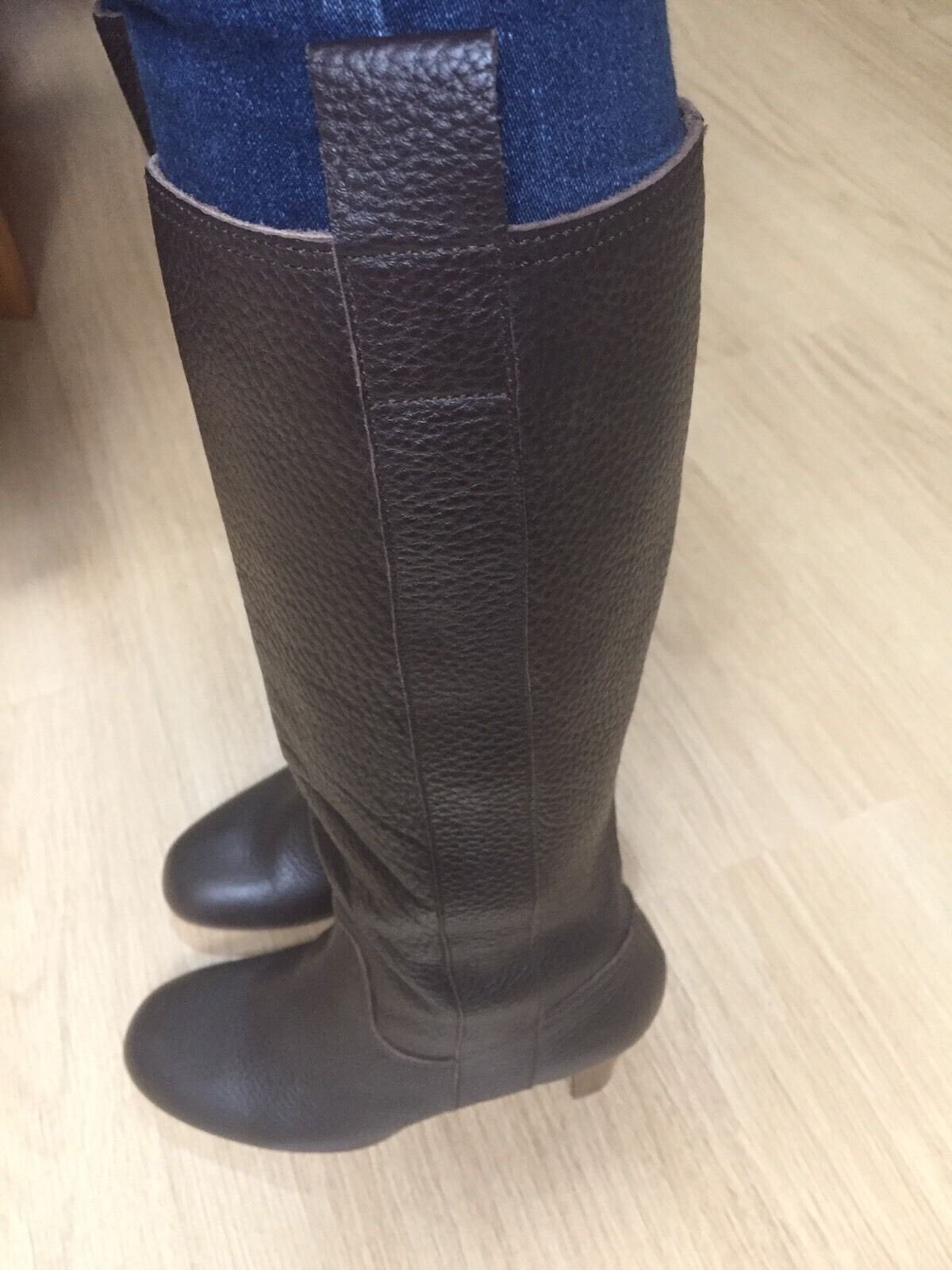 New M&S Ladies Soft Leather Boots Size RRP