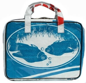Recycled Budget Jumbo Grocery Bag made from Fish Feed Bags Fair Trade Cambodia